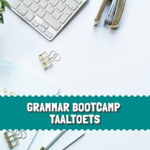 Grammar Bootcamp – Taaltoets