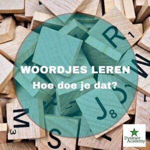 Woordjes leren – hoe doe je dat?