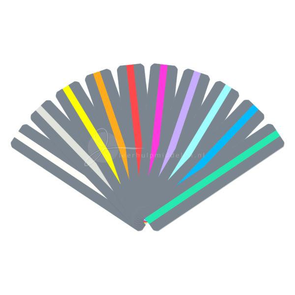 leesliniaal met gekleurde leeswijzer