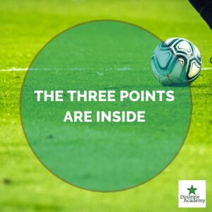 Voetbal The-three-points-are-inside