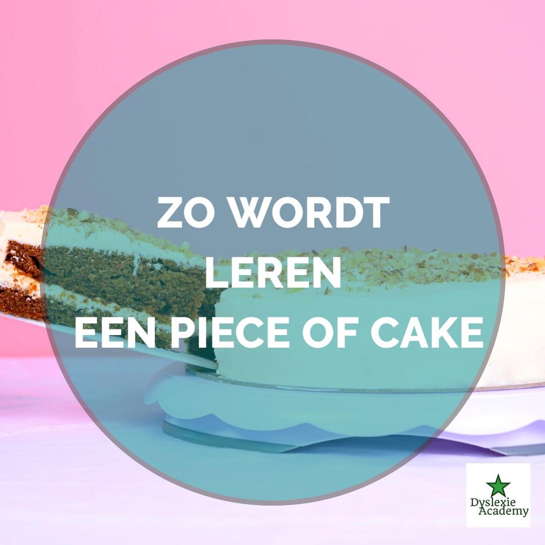Zo wordt leren a piece of cake